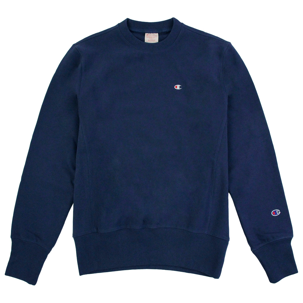Champion Reverse Weave Crew Neck Sweatshirt in ISB Blue