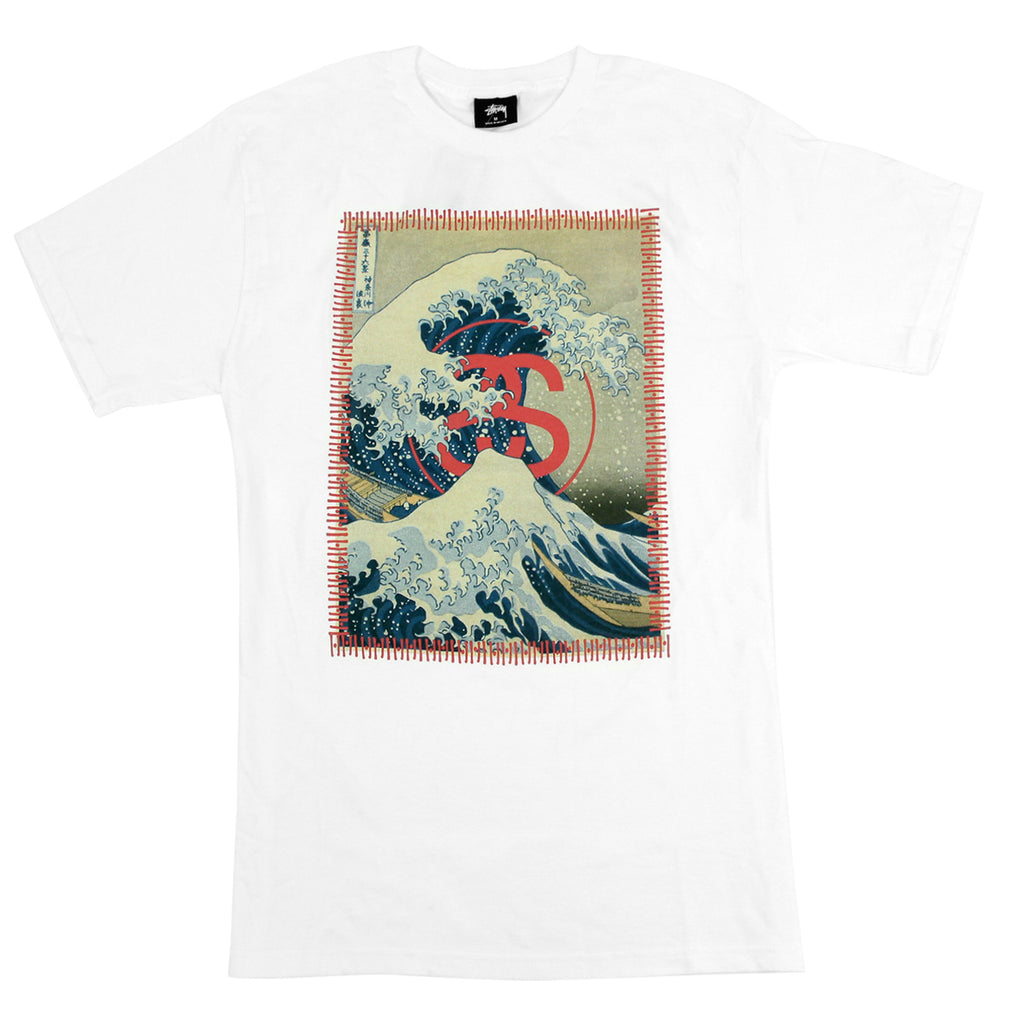 Stussy Tsunami T Shirt in White