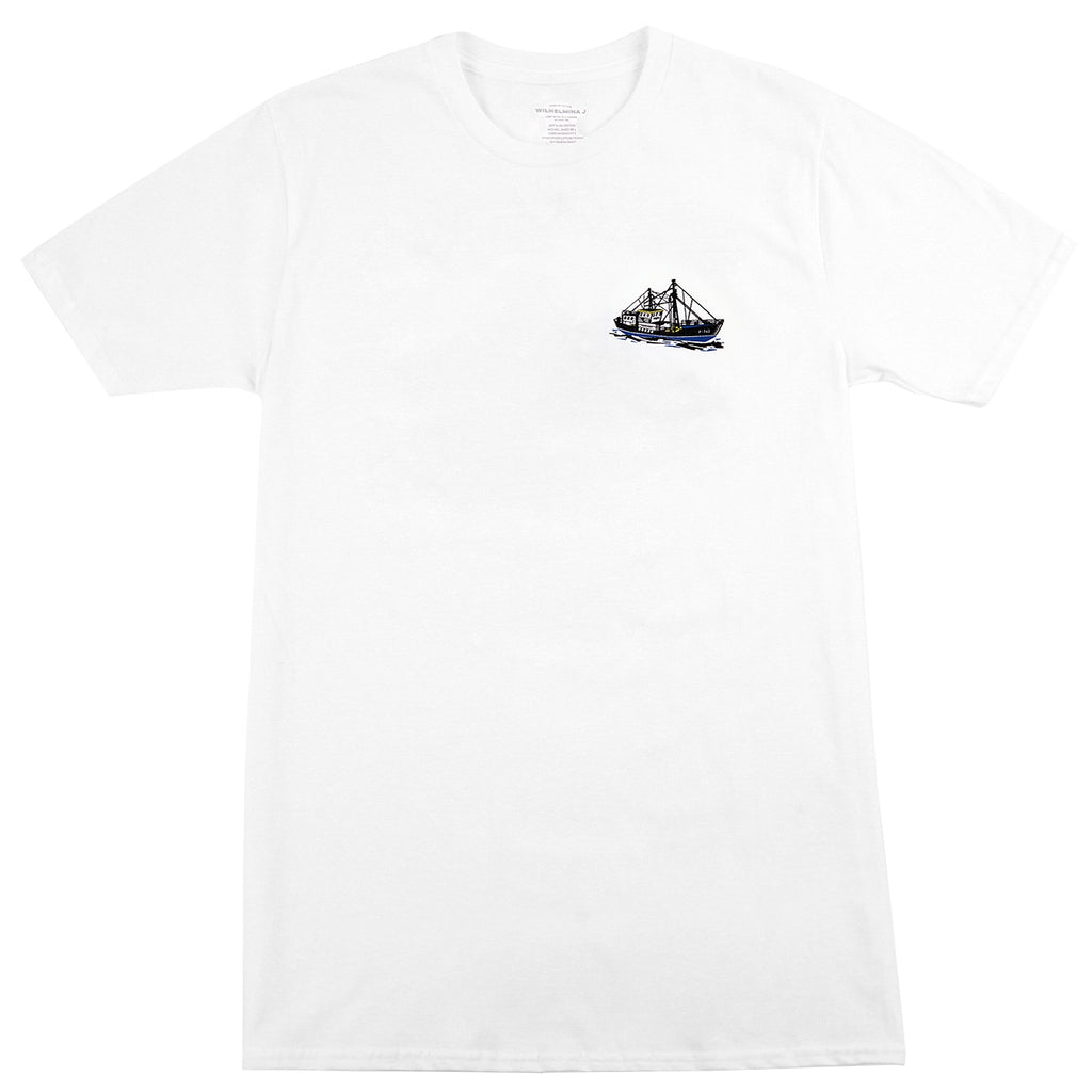 Bored of Southsea Wilhelmina J T Shirt in White - Front