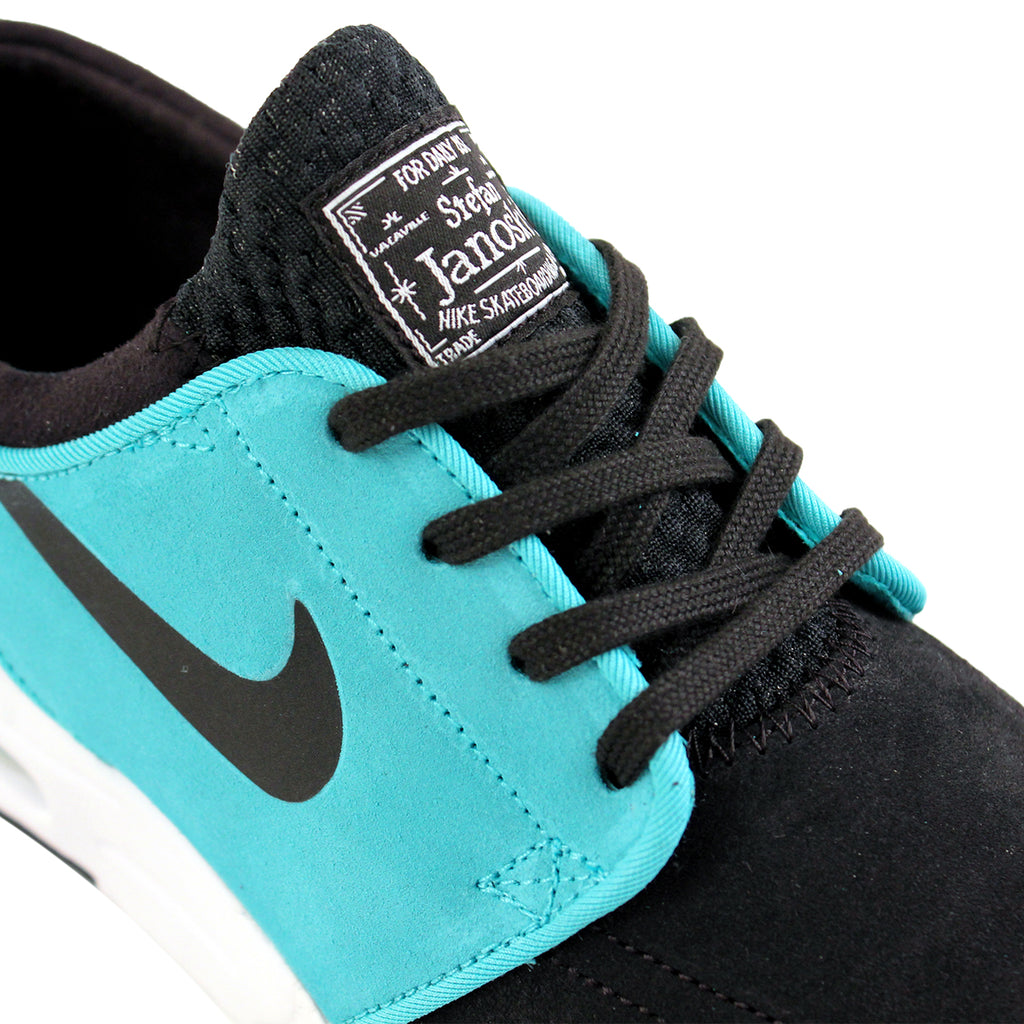 Nike SB Stefan Janoski Max L Shoes in Black / Lt Retro / White - Laces