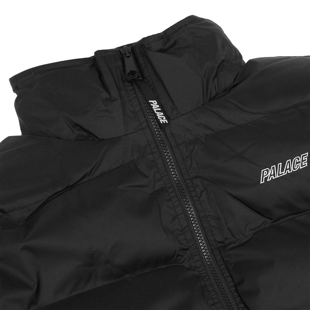 Palace Puffa Jacket in Anthracite - Detail