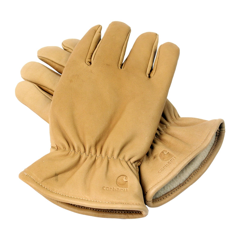 Carhartt WIP Lined Leather Gloves in Camel - Overlap