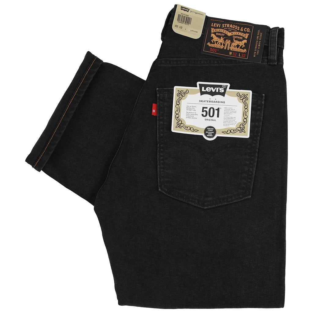 Levis Skateboarding 501 Jeans in Black Rinse