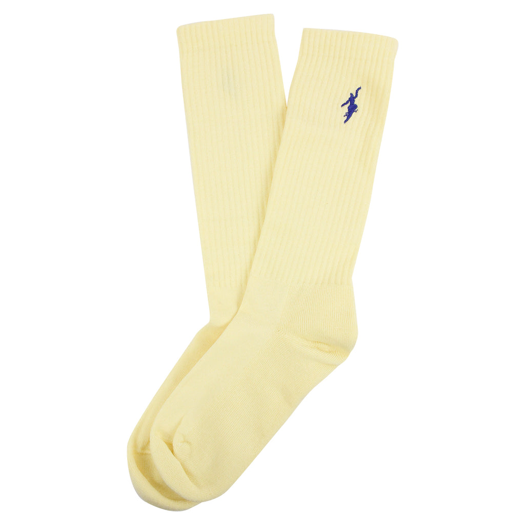 Polar Skate Co No Comply Sport Socks in Pastel Yellow