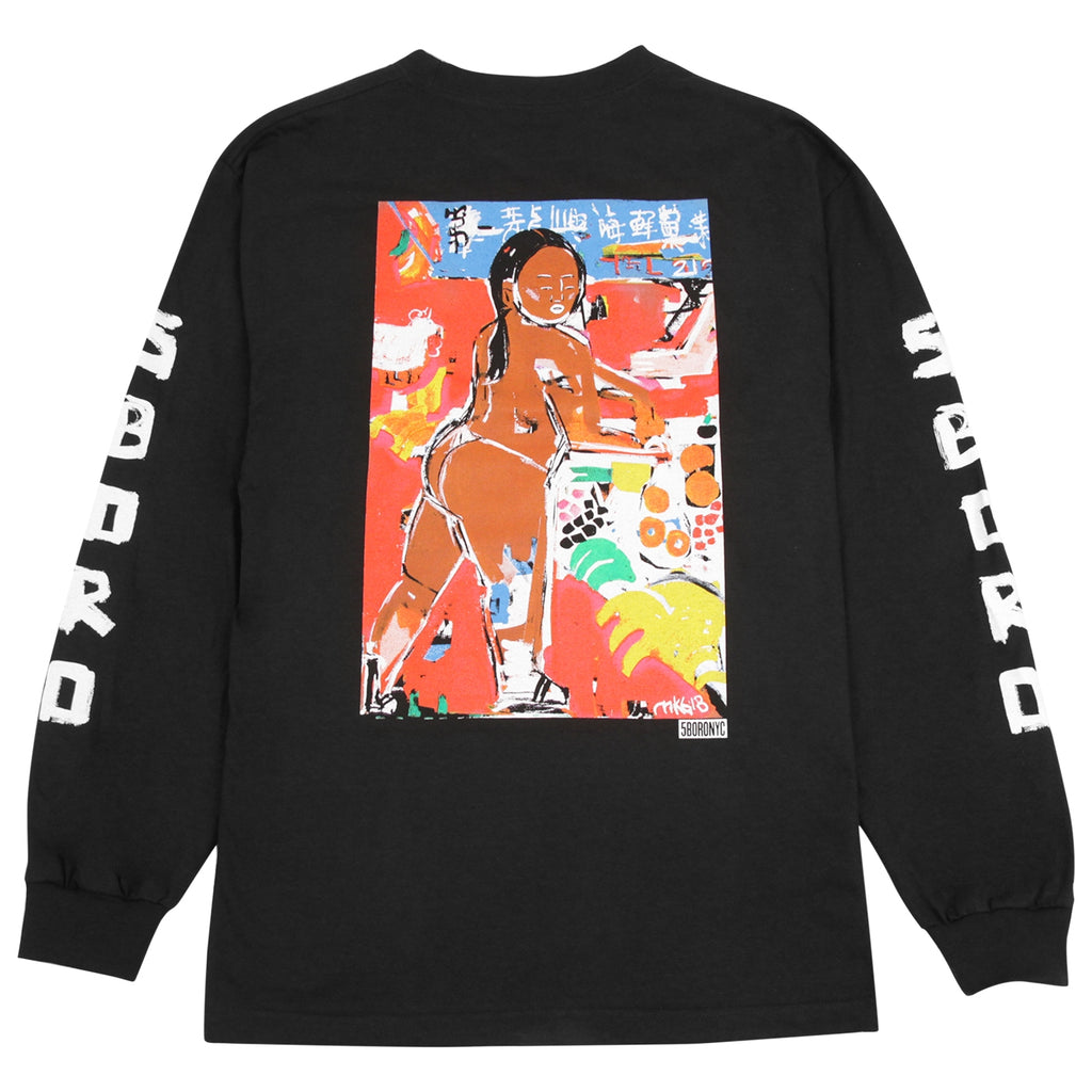 5Boro Chinatown Girl L/S T Shirt in Black