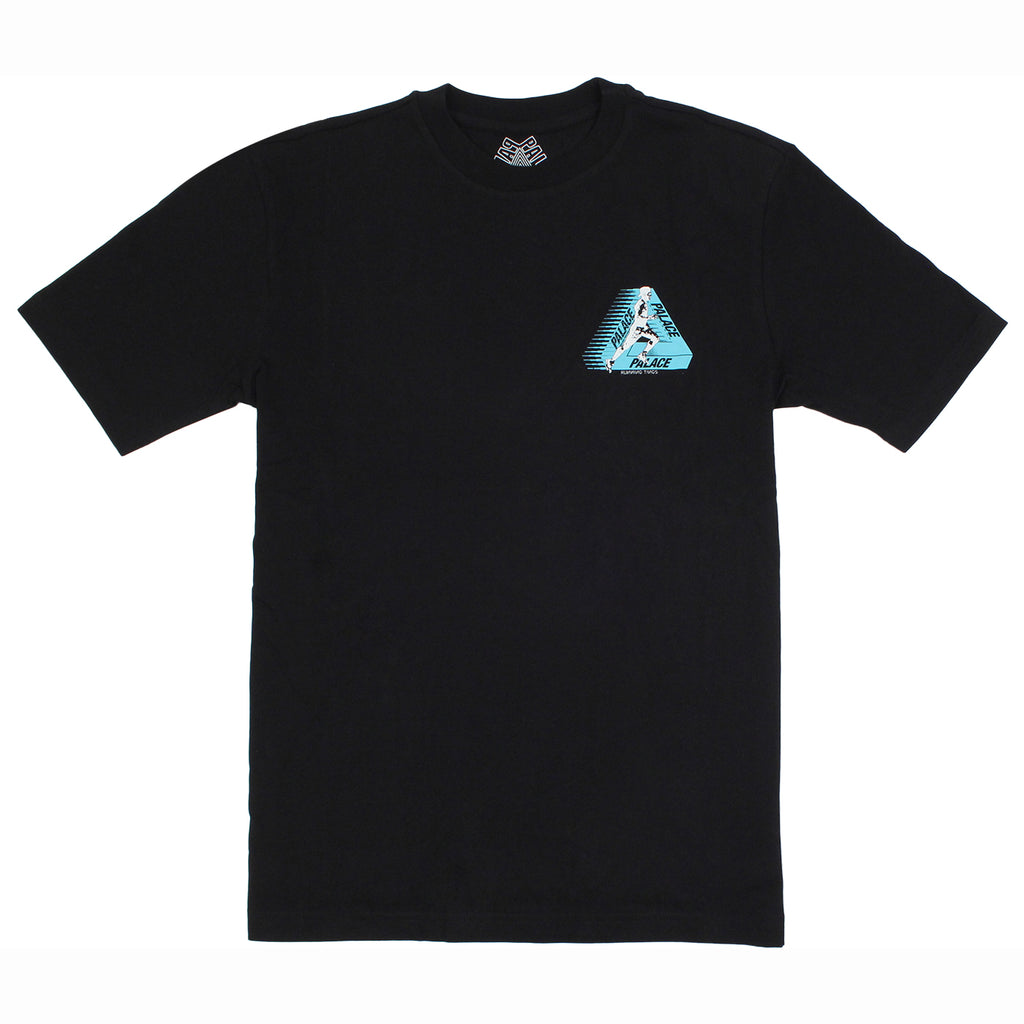 Palace Running Tings T Shirt in Black - Front