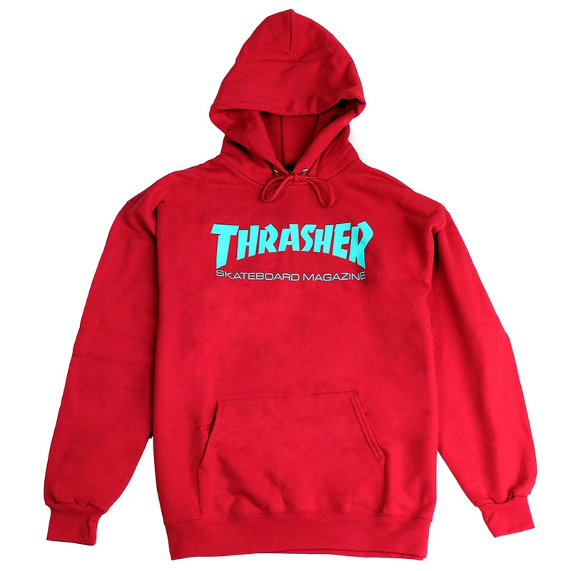Thrasher Skate Mag Logo Hoodie in Red / Teal