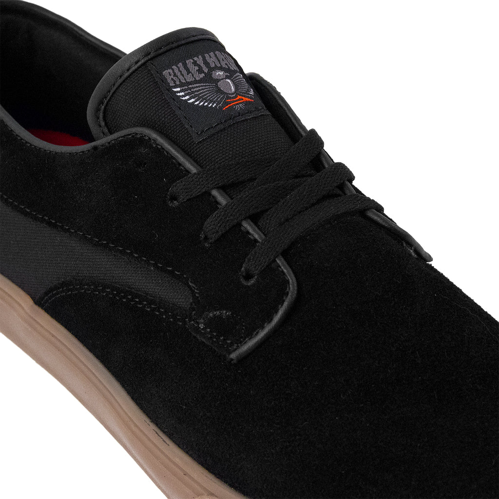 Lakai Riley Hawk Suede Pro Shoes in Black / Gum - Detail