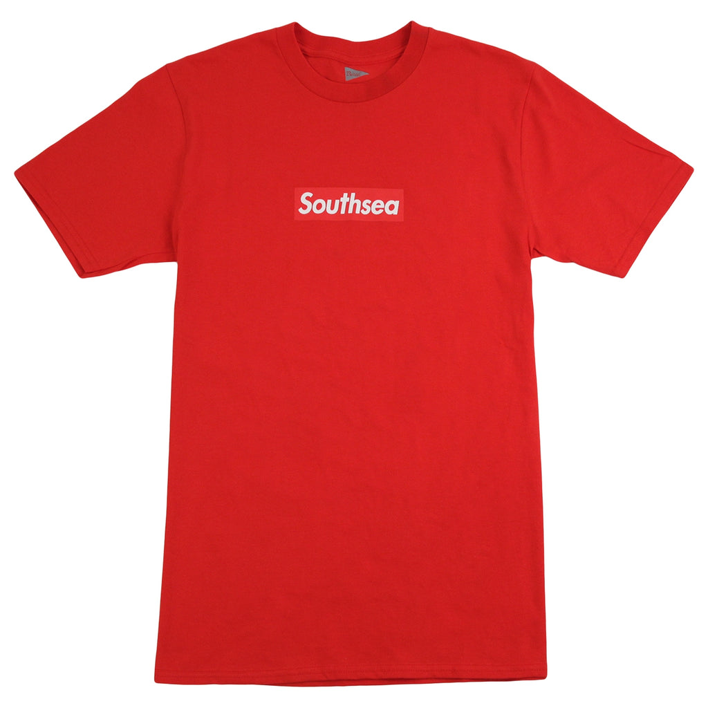 "Bored of Southsea ""Southsea"" T Shirt in Red / Red Box"