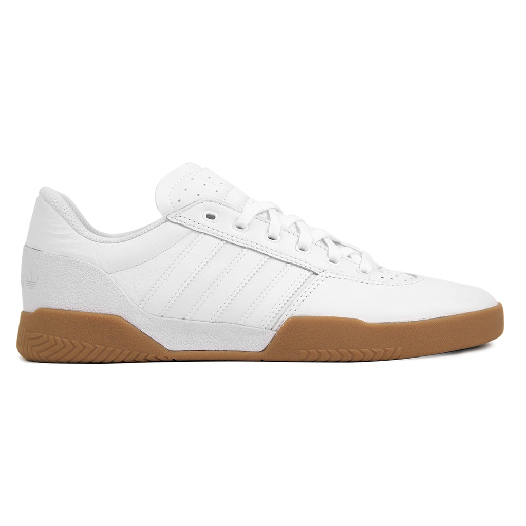 Adidas City Cup Shoes in White / White / Gum