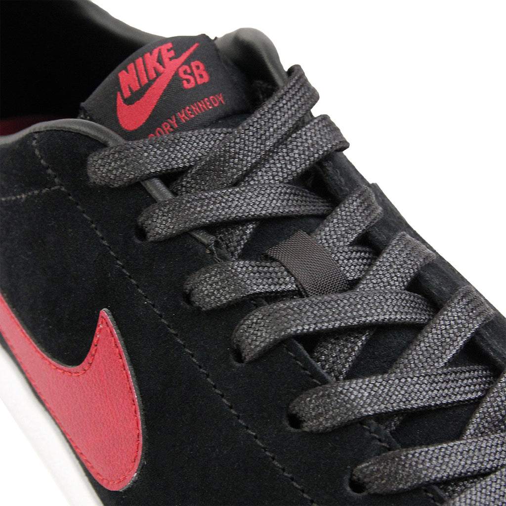 Nike SB Zoom All Court CK QS Shoes in Black / Team Red / White - Detail