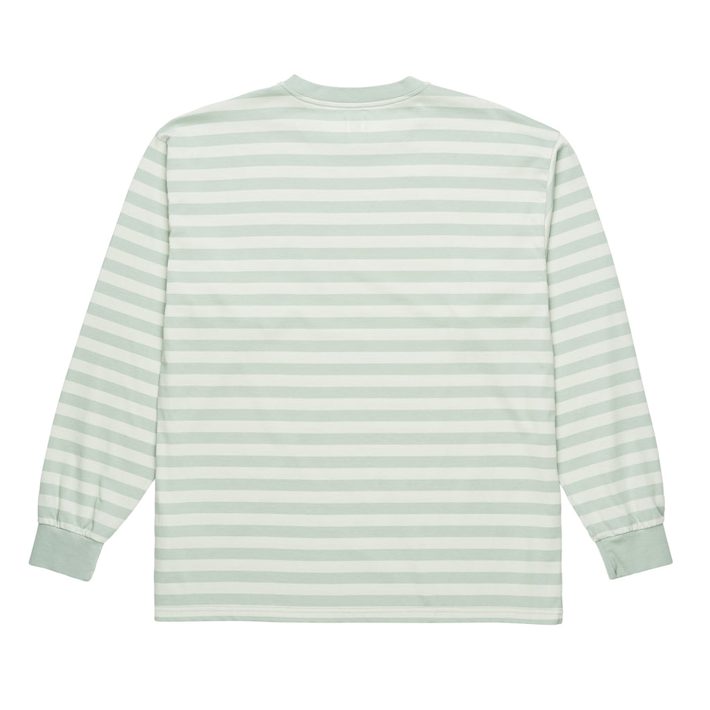 Polar Skate Co Signature Striped L/S T Shirt in Stone Blue - Back