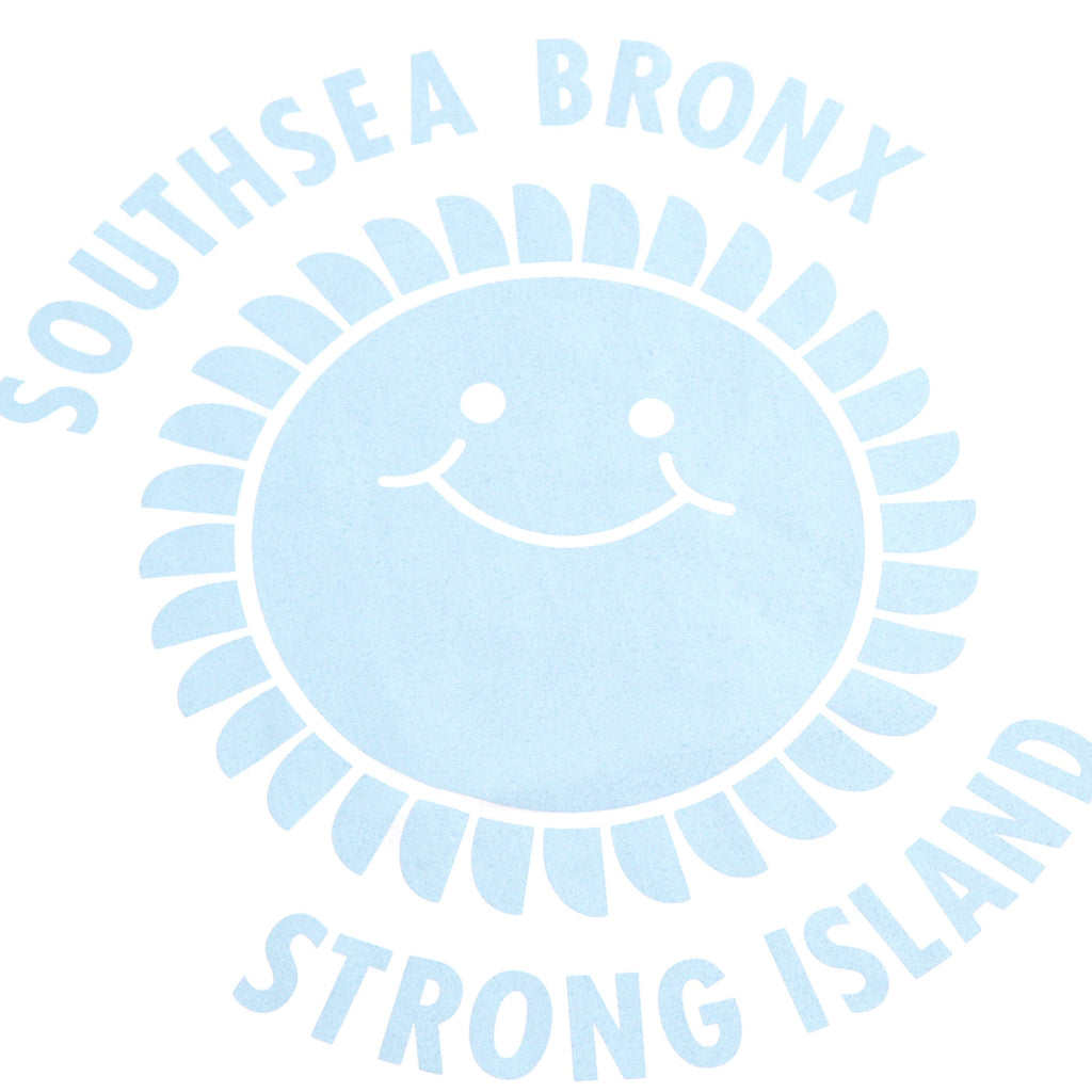 Southsea Bronx Strong Island T Shirt in White / Pastel Blue - Detail 2