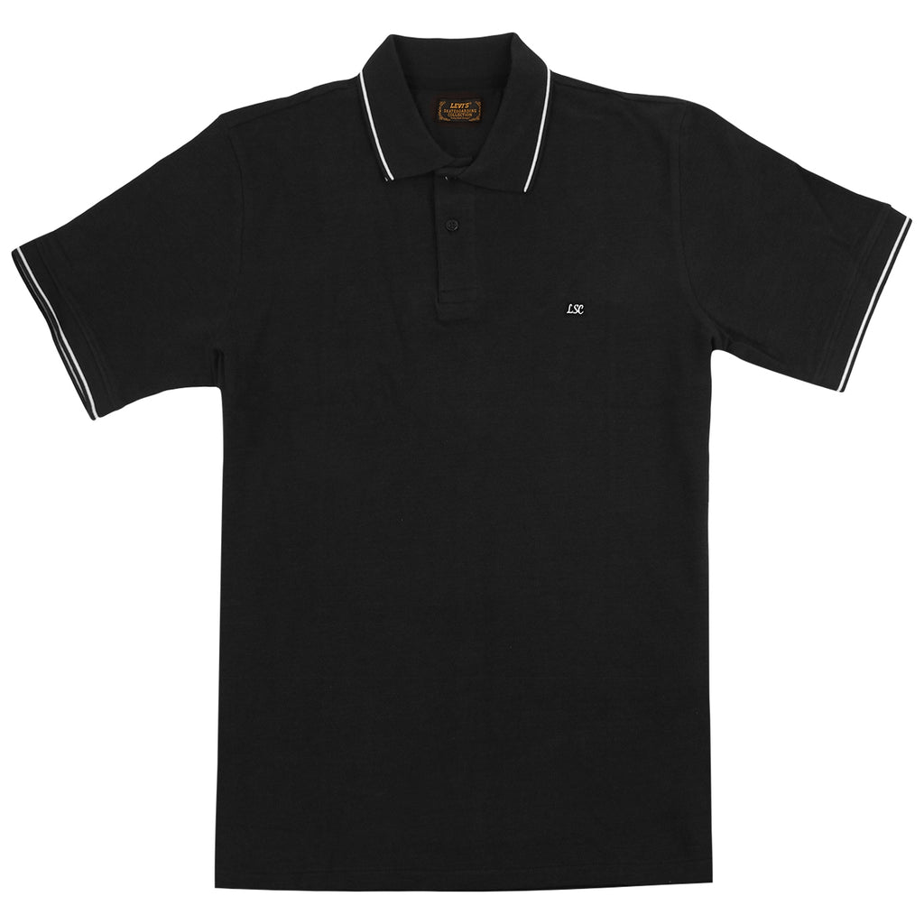 Levis Skateboarding Polo Shirt in Jet Black