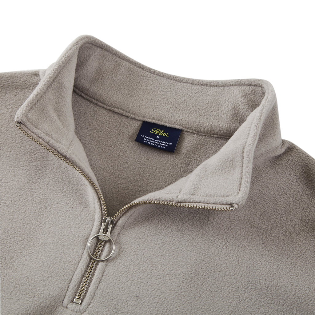 Helas Quarter Zip Fleece in Black - Detail