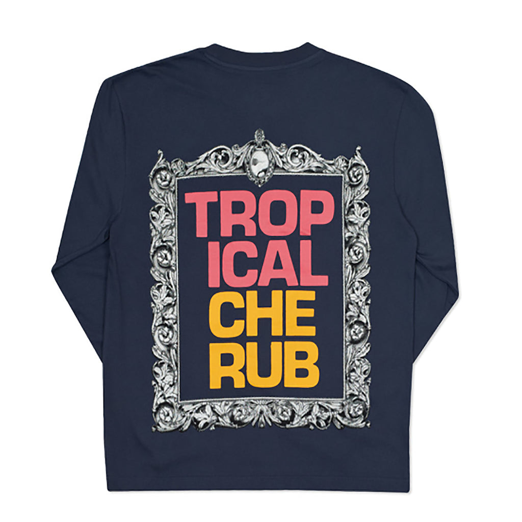 Palace Tropical Cherub L/S T Shirt in Navy