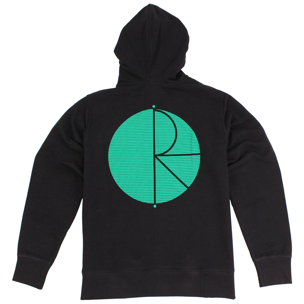 Polar Skate Co Fill Logo Behind The Curtain Hoodie in Black / Green - Back