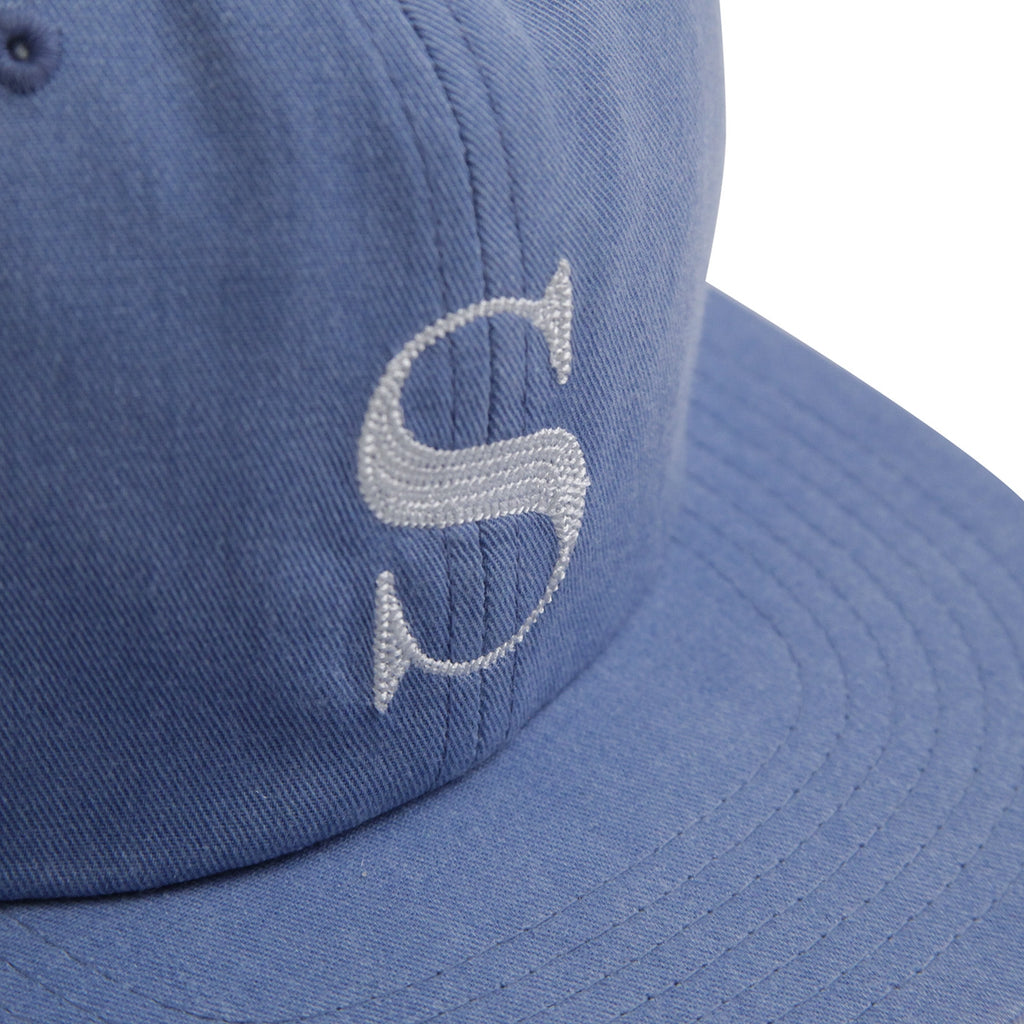 88783ad91f0 Stussy S Logo Pigment Strapback Cap in Light Blue - Embroidery