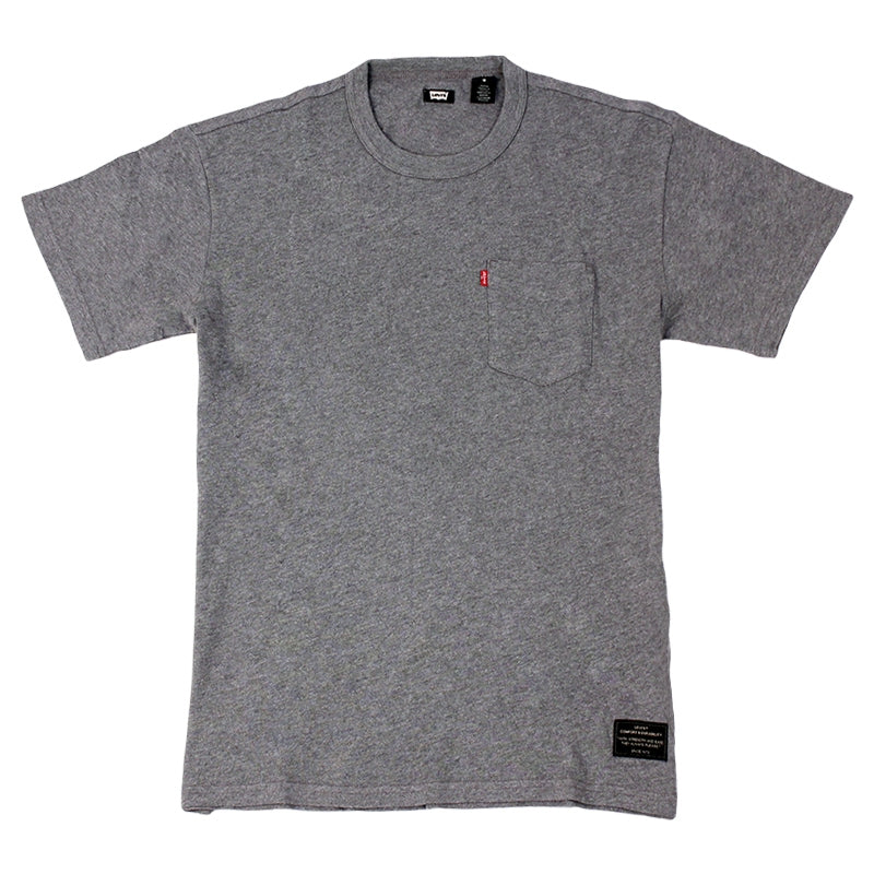 Levi's Skateboarding Collection Skate Pocket T Shirt in Lead Grey Heather