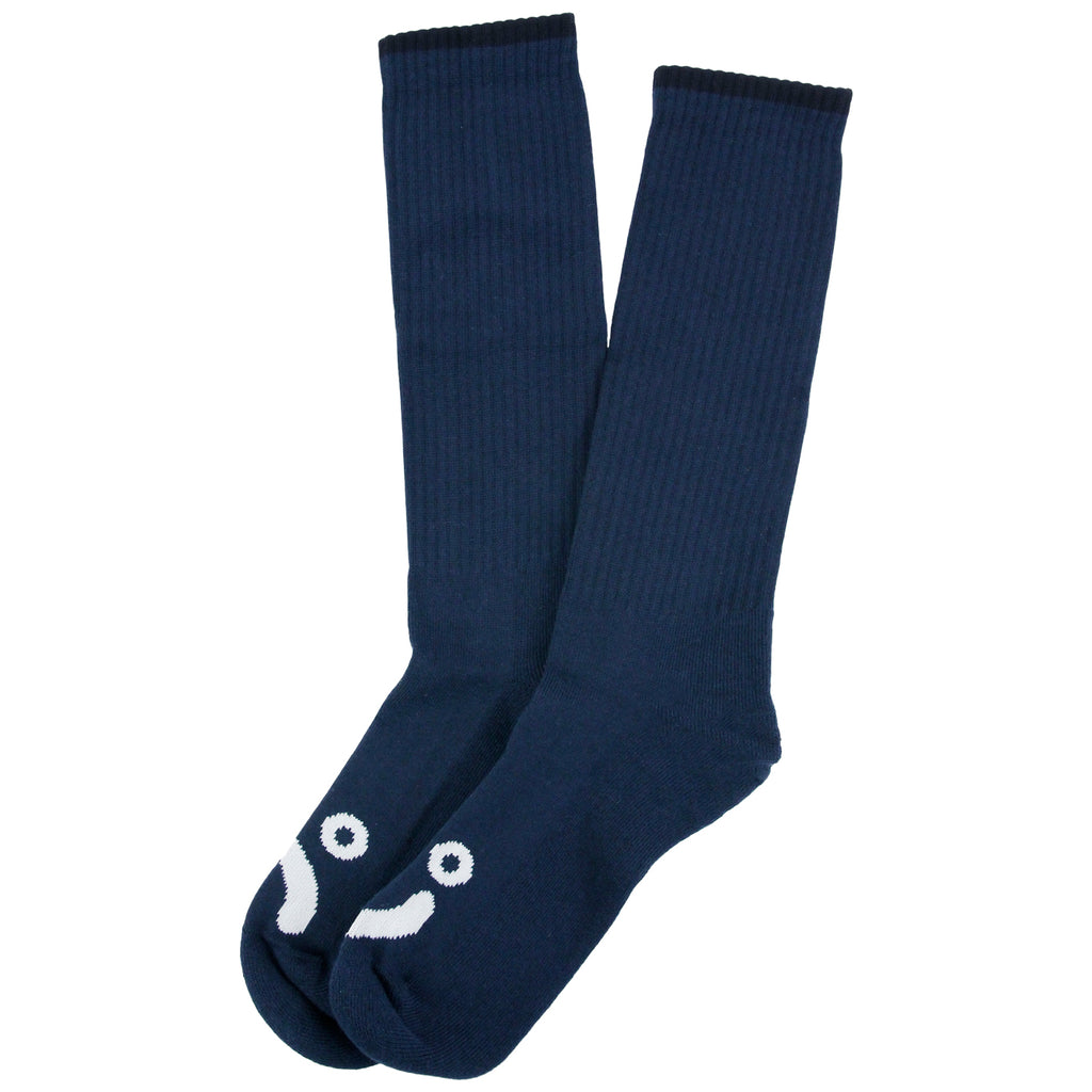 Polar Skate Co Happy Sad Socks in Navy / White - Pair