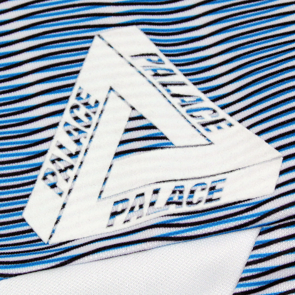 Palace x Adidas Graphic Goalie Shirt in Bold Aqua / White - Tri Ferg