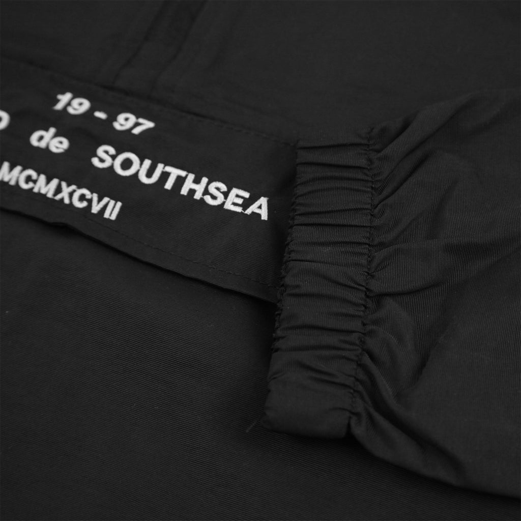Bored of Southsea BDG Windbreaker Anorak Jacket in Black - Cuff