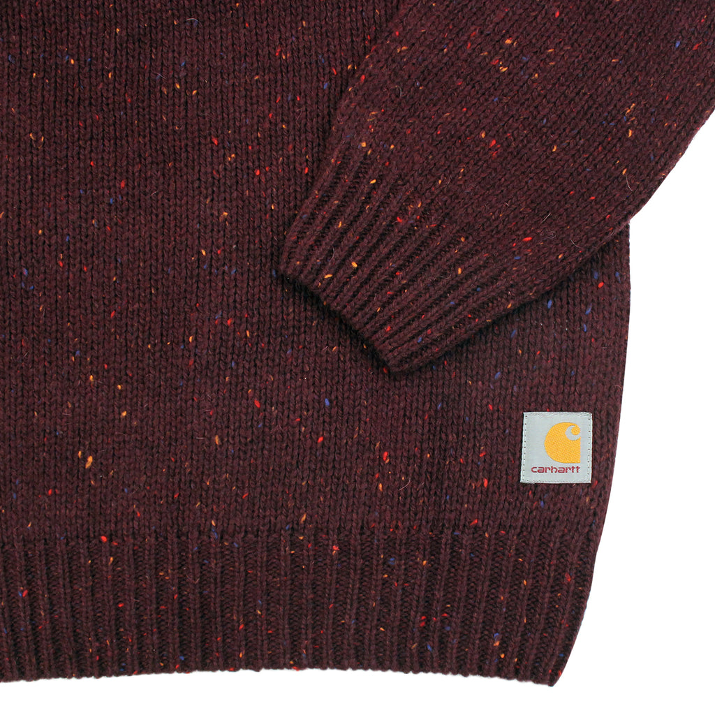 Carhartt Anglistic Sweater in Damson Heather - Cuff
