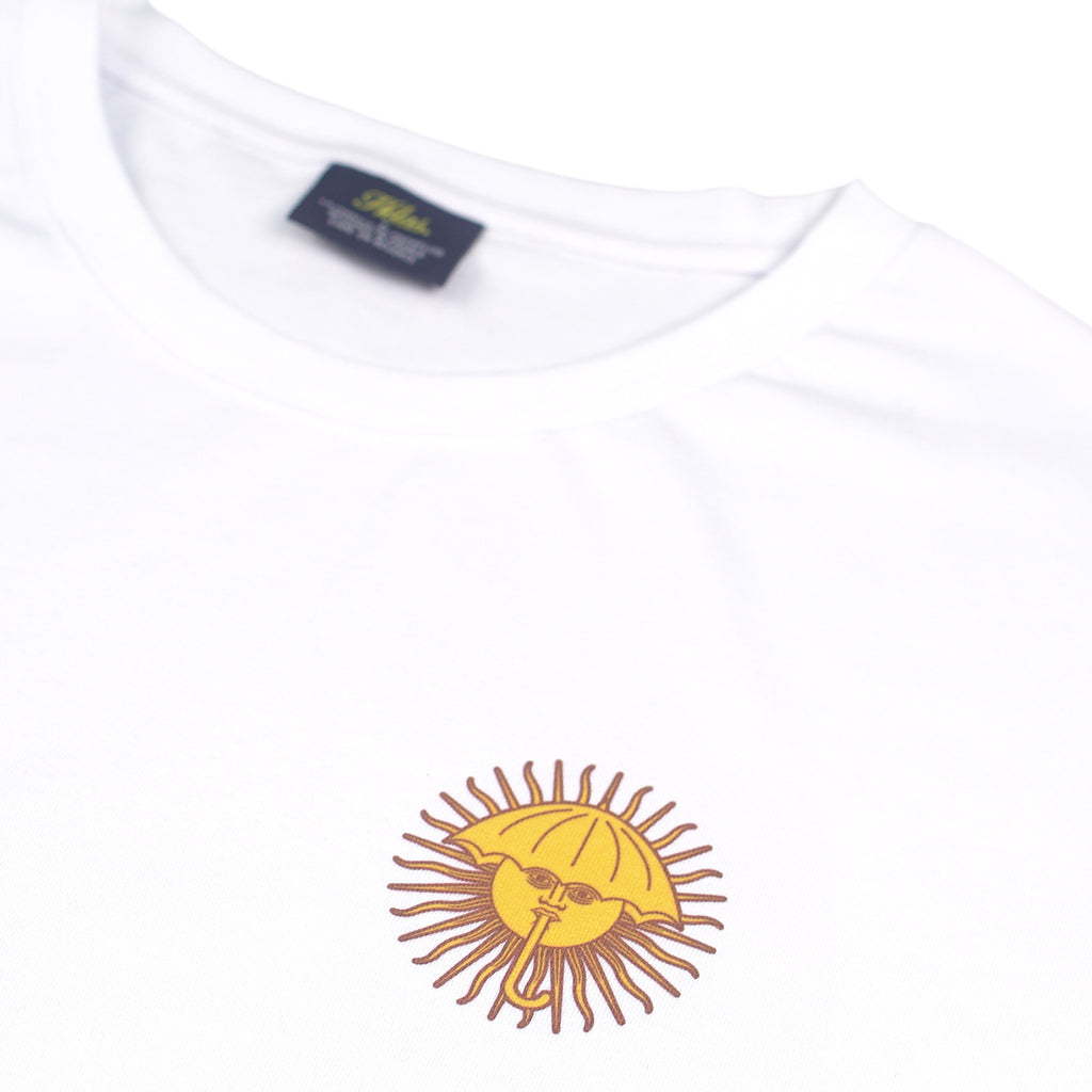 Helas Parasol De Mayo T Shirt in White / Blue / Navy - Detail