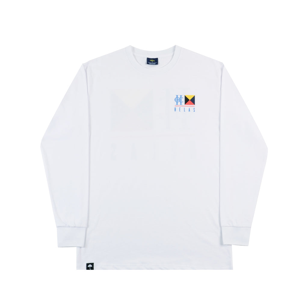 Helas HCC Zulu Cruise L/S T Shirt in White - Front