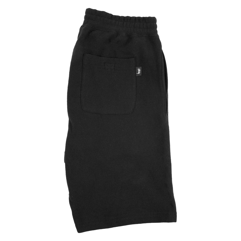 Stussy Stock Fleece Shorts in Black - Profile