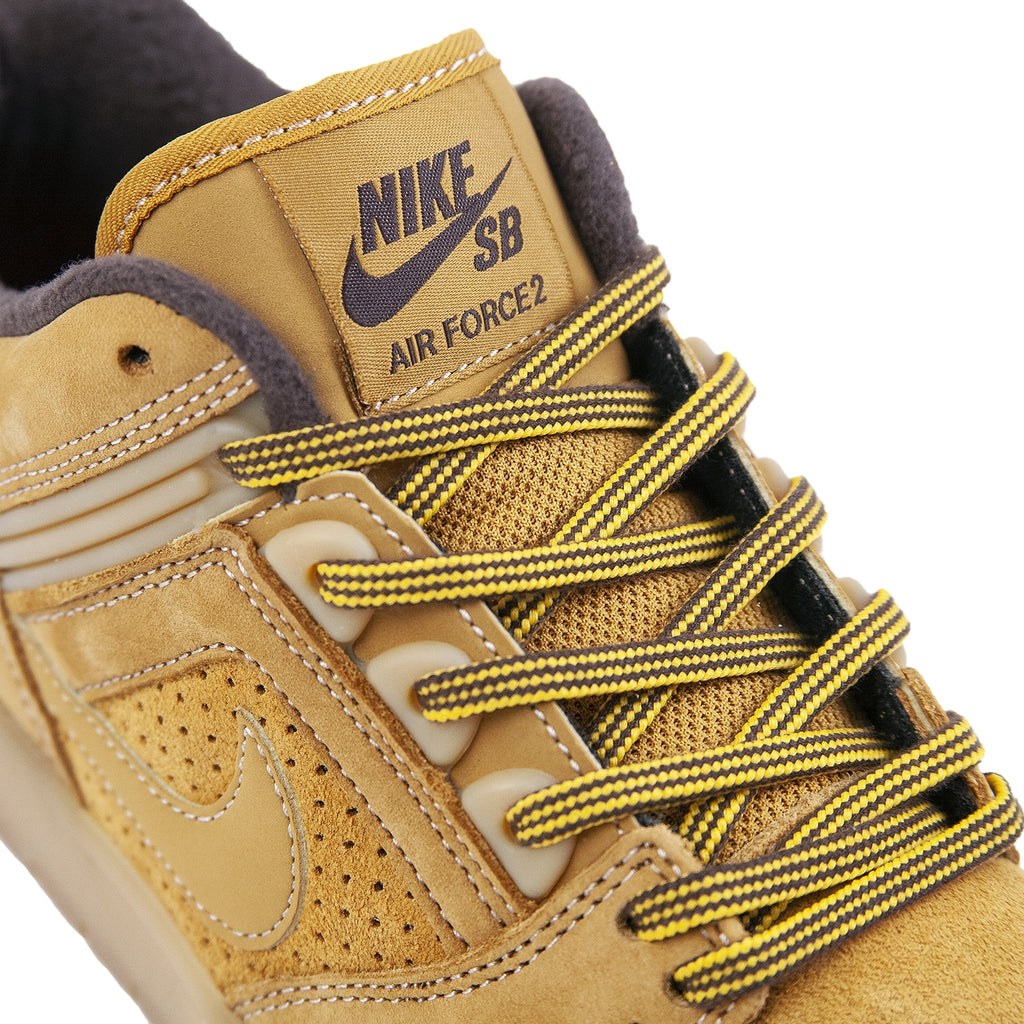 Nike SB Air Force II Low Premium Shoe in Bronze / Bronze - Baroque Brown - Detail