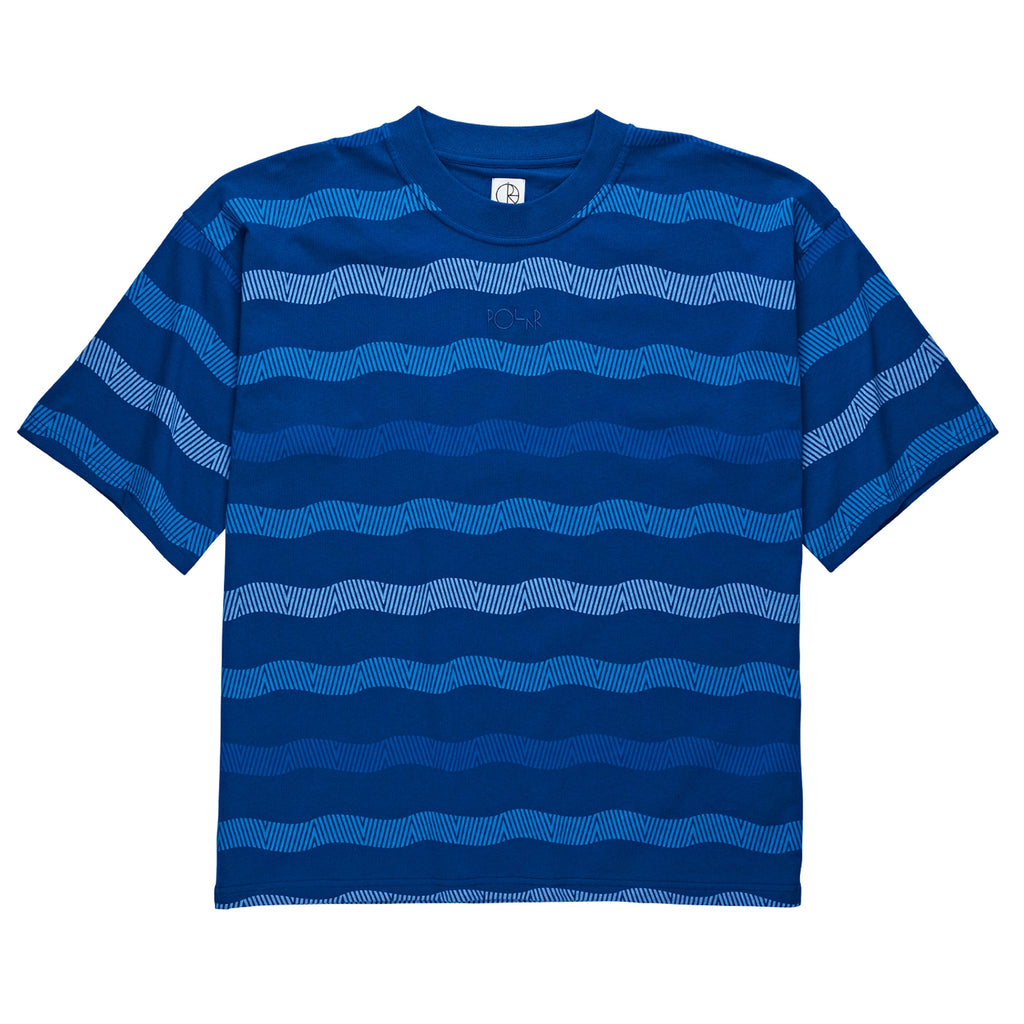 Polar Skate Co Wavy Surf T Shirt in Dark Blue