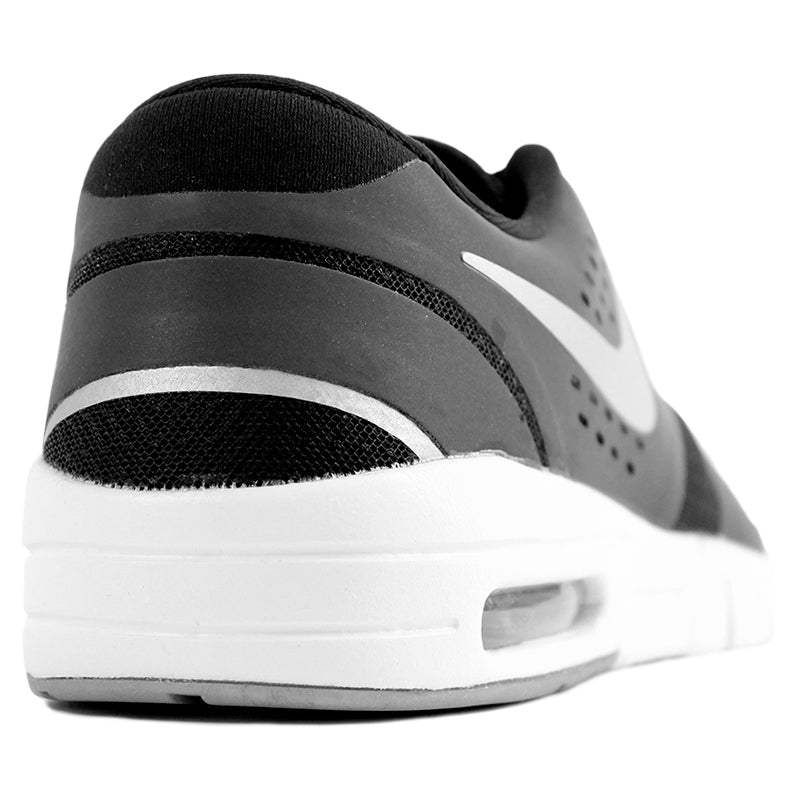 Nike SB Eric Koston 2 Max Shoes in Black / Metallic Silver / White - Heel