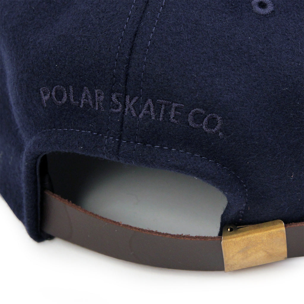 Polar Skate Co P Wool Cap in Navy - Embroidery