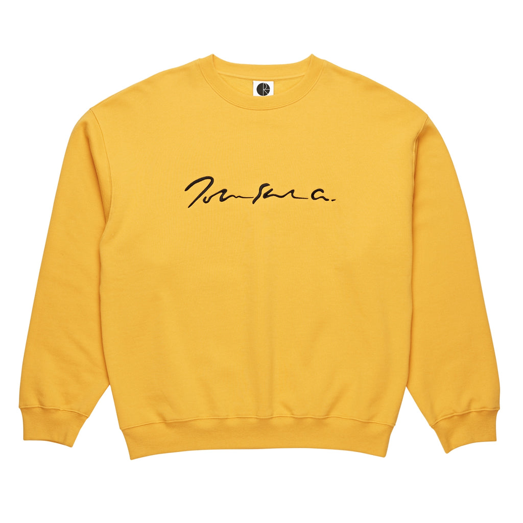Polar Skate Co Signature Crewneck Sweatshirt in Yellow