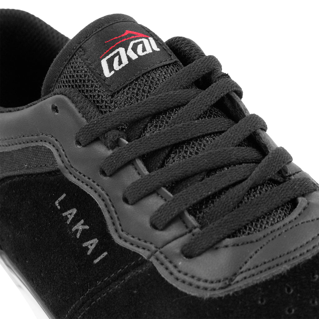 Lakai Staple Shoes in Black Suede - Laces
