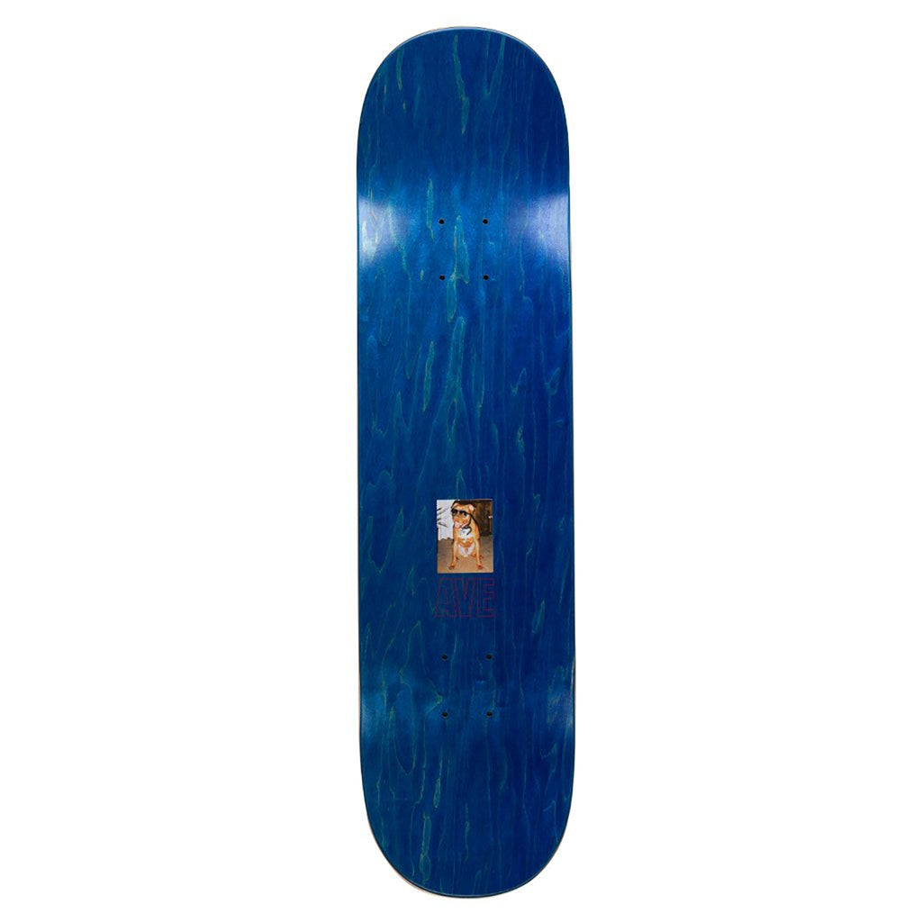 "Fucking Awesome AVE Blue Burger Skateboard Deck in 8.5"" - Top"