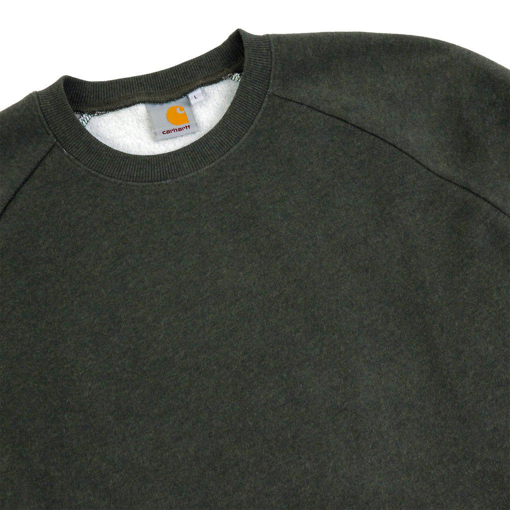 Carhartt WIP Holbrook Sweat in Blackforest Heather - Detail
