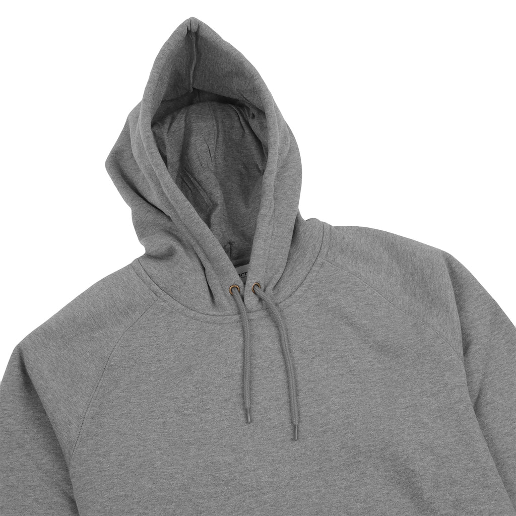Carhartt Hooded Chase Sweat Hoodie in Dark Grey Heather / Gold - Detail