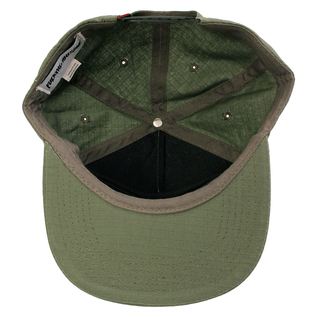 Fucking Awesome Africa Cap in Army - Inside