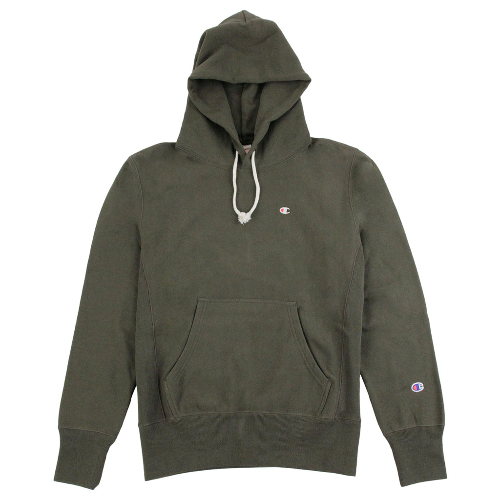 Champion Hooded Sweatshirt in Olive