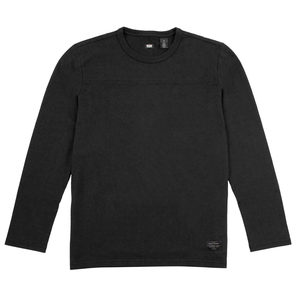 Levis Skateboarding L/S Football Shirt in Jet Black