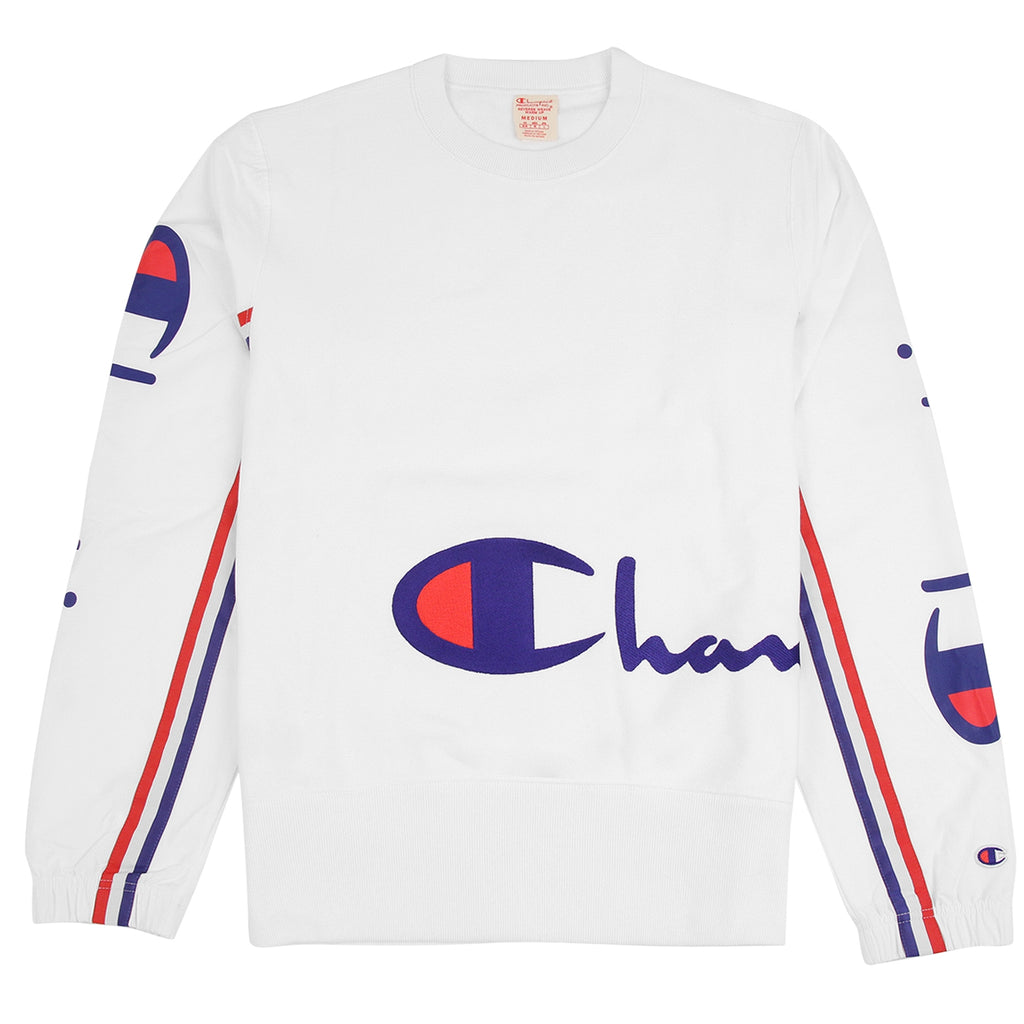 Champion Reverse Weave Training Crew Sweatshirt in White