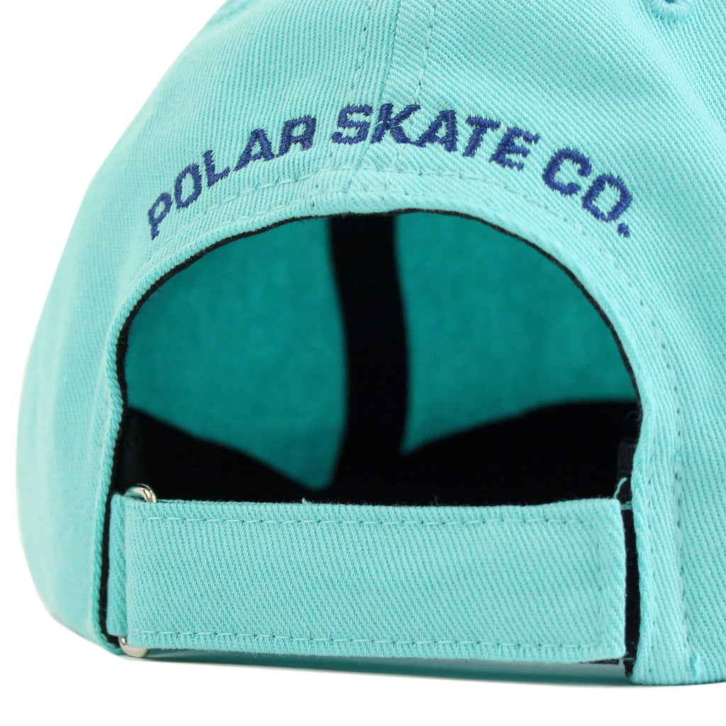 Polar Skate Co No Comply Cap in Pastel Green / Navy - Back
