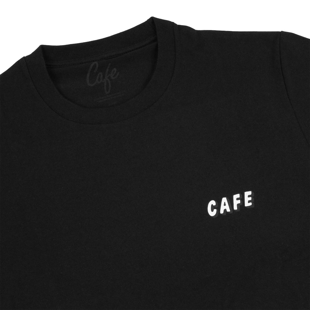 Skateboard Cafe Planet Donut T Shirt in Black - Detail