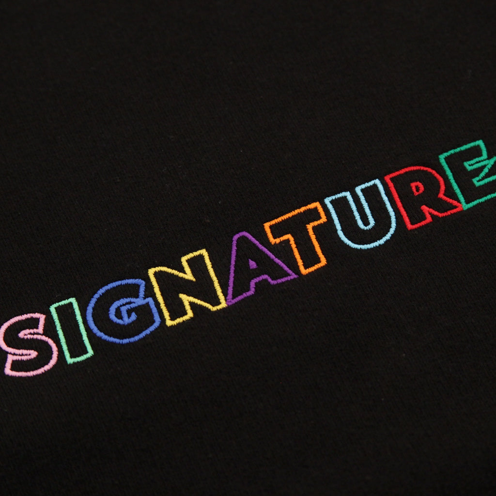 Signature Clothing Outline Logo Embroidered Sweatshirt in Black / Multi - Embroidery