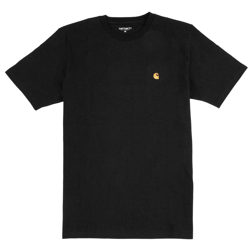 Carhartt S/S Chase T Shirt in Black / Gold