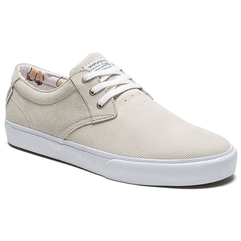 Lakai Daly x Porous Walker Skate Shoes in White Suede - Detail 2