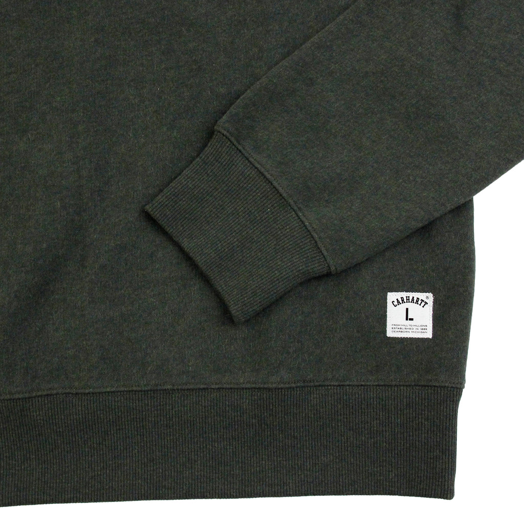 Carhartt WIP Holbrook Sweat in Blackforest Heather - Sleeve
