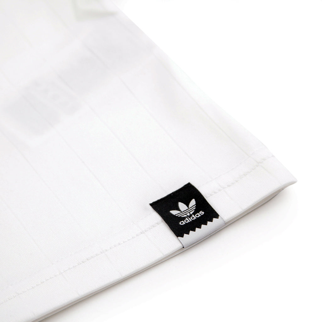 Adidas Skateboarding Clima Club Jersey in White / Trace Scarlet